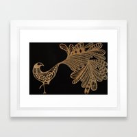 Golden Bird #4 Framed Art Print