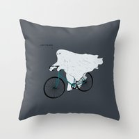 Negative Ghostrider G Throw Pillow