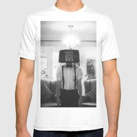 Ol' Radio Daze Mens Fitted Tee White SMALL