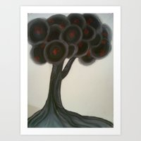 Krishnachura tree Art Print