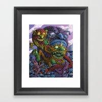 A Dance In Mushrooms Framed Art Print