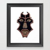 Euro Mask Framed Art Print
