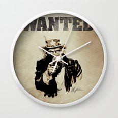 Wanted Poster Wall Clock