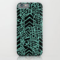 Up/Down (mint) iPhone 6 Slim Case
