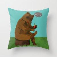 Mrs. Bear Throw Pillow