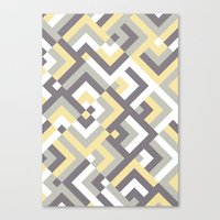 Yellow & Khaki Canvas Print