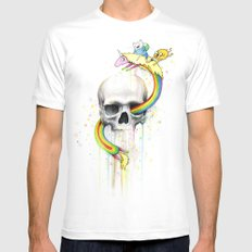 Adventure through Time and Face Mens Fitted Tee White SMALL