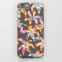 iPhone & iPod Case featuring Aztec Sunrise Floral - Grey by Schatzi Brown
