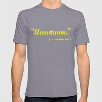 It's Awwtumn Mens Fitted Tee Slate SMALL