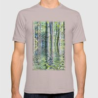 SERENE GREEN SCENE Mens Fitted Tee Cinder SMALL