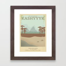 Retro Travel Poster Series - Star Wars - Kashyyyk Framed Art Print