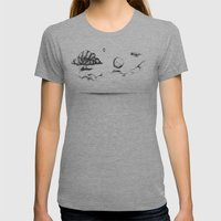 The Crossing Womens Fitted Tee Athletic Grey SMALL