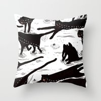 ze crying katz Throw Pillow