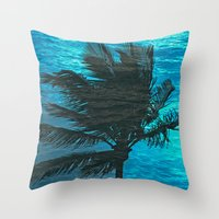 Swimming Palm Throw Pillow