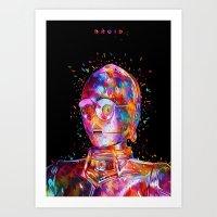 Droid Art Print