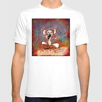 Nom Nom Mens Fitted Tee White SMALL