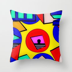 80's Punch Throw Pillow