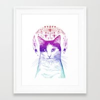 Of cats and insects Framed Art Print