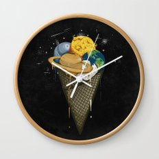 Galactic Ice Cream Wall Clock