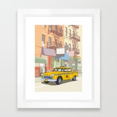 NEW YORK CAB Framed Art Print