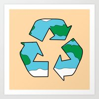 Recycle Art Print