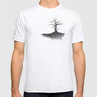 tree on the hill Mens Fitted Tee Ash Grey SMALL