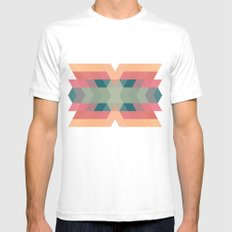 Navajo 4 White Mens Fitted Tee SMALL
