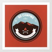 Go Camping Art Print