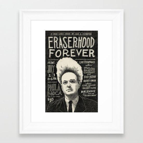 Eraserhood Forever poster Framed Art Print