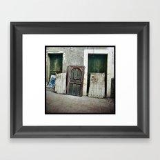 Homeless Windows Framed Art Print