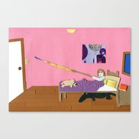 Alligators Under the Bed Canvas Print