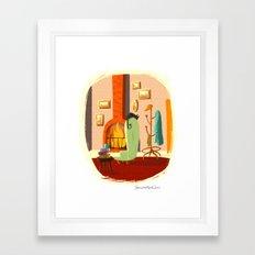 Little House Cat Framed Art Print