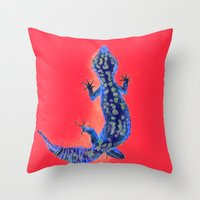Leopard Gecko Throw Pillow
