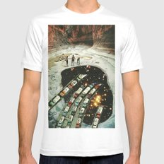 connection Mens Fitted Tee White SMALL