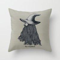 Grey Wizard Throw Pillow