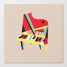 Cubist Piano Canvas Print