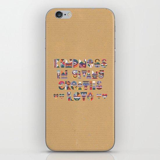 Kindness iPhone & iPod Skin
