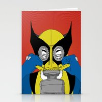 Wolverine Gas Mask Stationery Cards