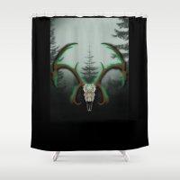 C-1 Horns Shower Curtain
