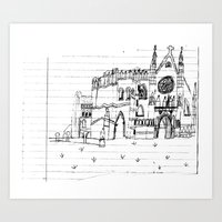Childhood Drawings (Cathedral) Art Print