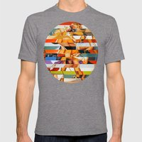 Glitch Pin-Up: Peyton Mens Fitted Tee Tri-Grey SMALL