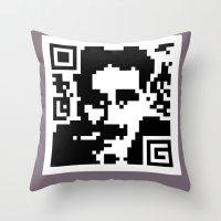 QR- Groucho Throw Pillow