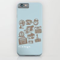 iPhone & iPod Case featuring blue vintage  by flying bathtub