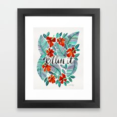 Killin' It – Tropical Red & Green Framed Art Print