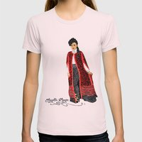 Janelle Monae Womens Fitted Tee Light Pink SMALL