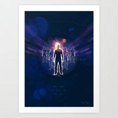 Human Light Siluette 0.2 Art Print
