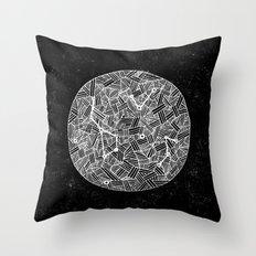 Black Constellation Throw Pillow