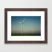 Windmills In The Sun Framed Art Print