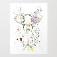 Elephant / June Art Print