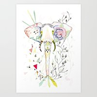 Elephant / June Art Print